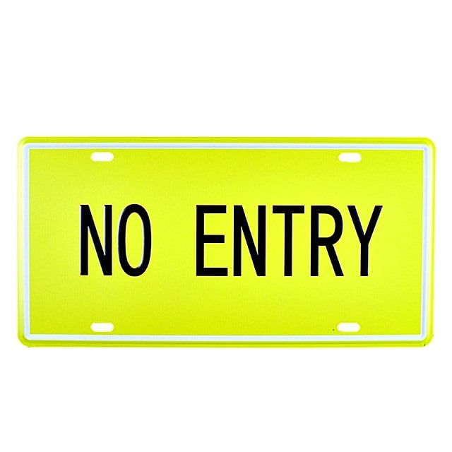 PLACA METAL NO ENTRY