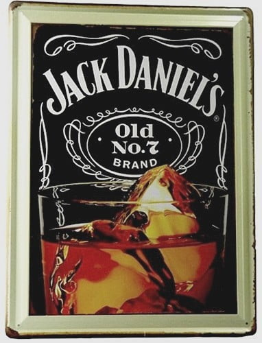 PLACA METAL JACK DANIELS OLD N.o 7