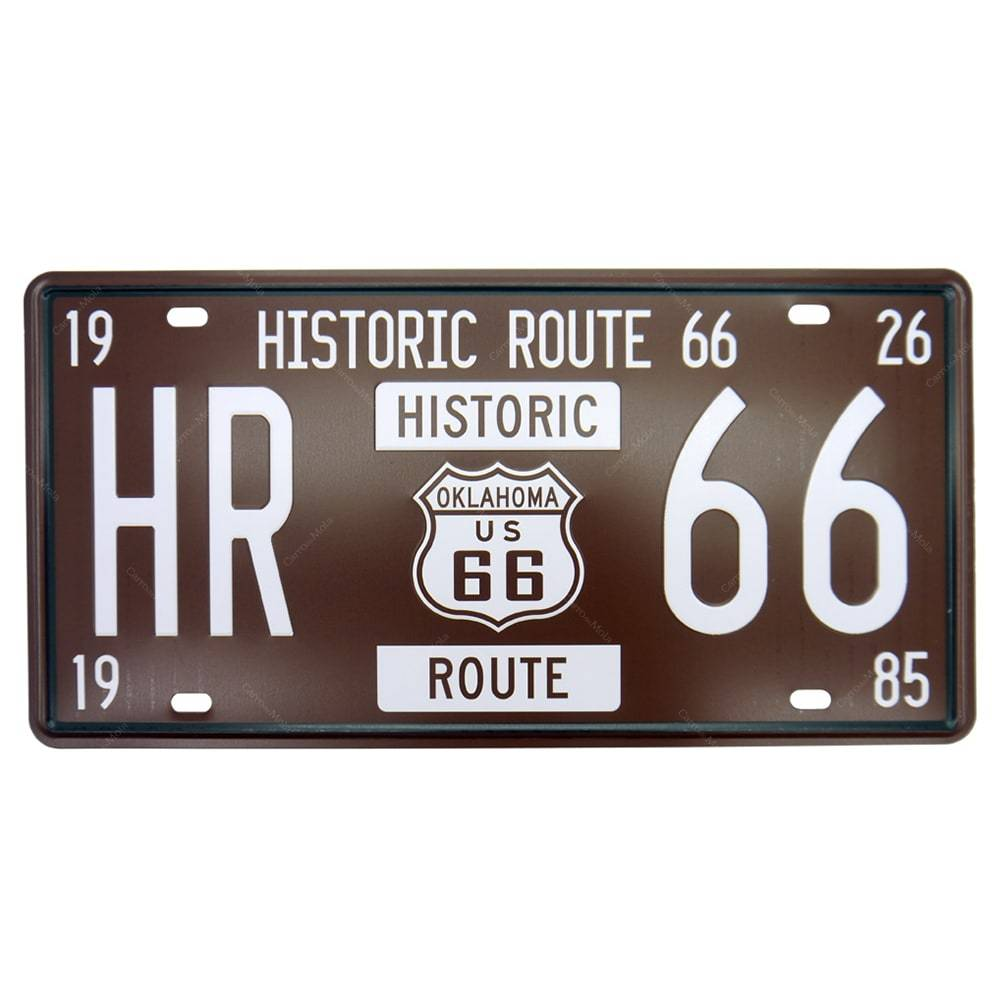 PLACA METAL HR 66