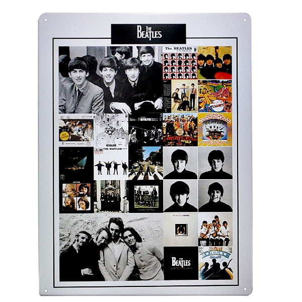 PLACA METAL BEATLES MOMENTS ref.15131