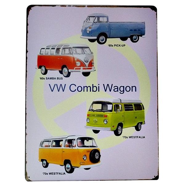 PLACA METAL VW KOMBI WAGON