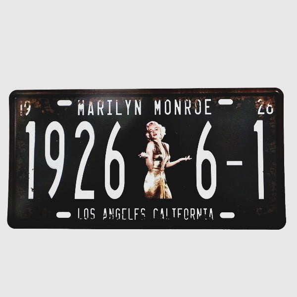 PLACA METAL MARILYN 1926