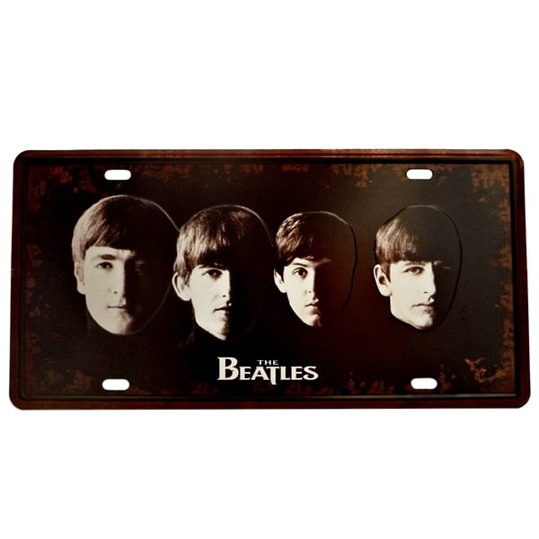 PLACA METAL THE BEATLES