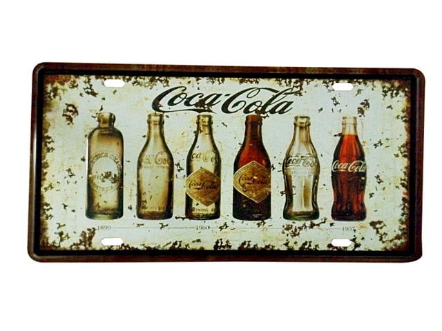 PLACA METAL COCA COLA EVOLUTION