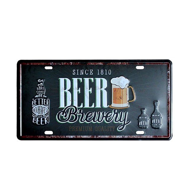 PLACA METAL BEER BREWERY