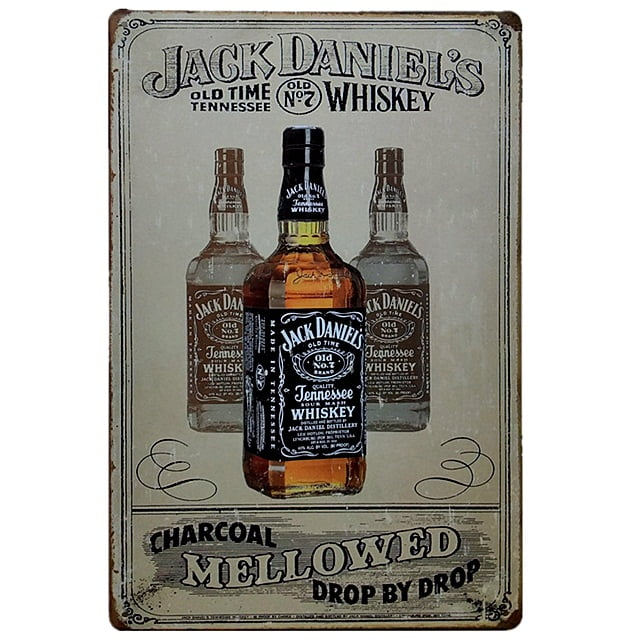 PLACA METAL JACK DANIEL'S WHISKEY