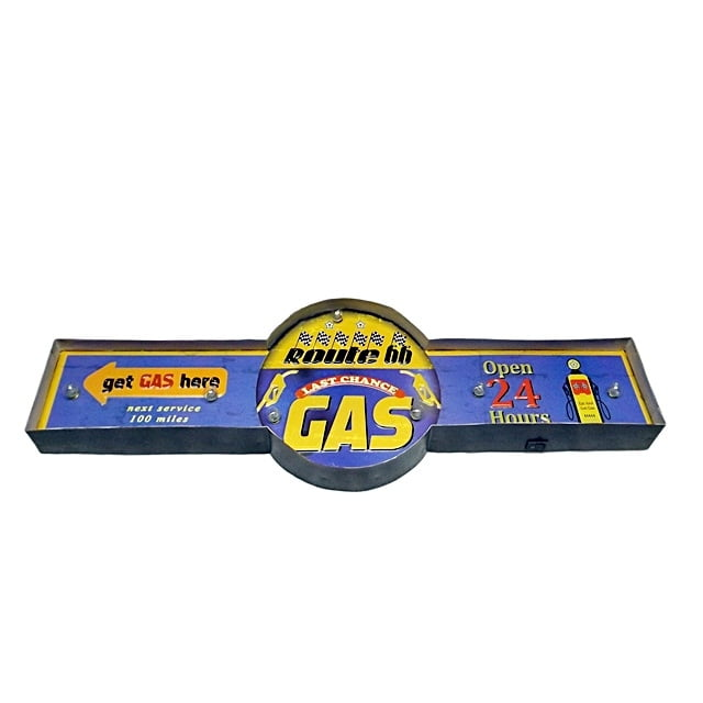 PLACA LAST CHANCE GAS COM LED