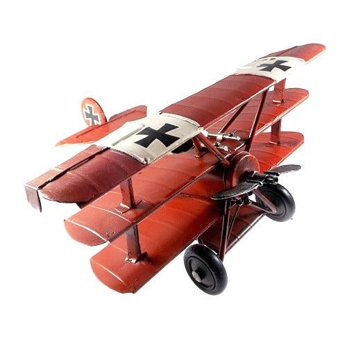 Avião Miniatura de Ferro Vintage e Retrô ref.340