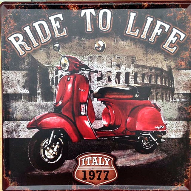 PLACA METAL RIDE TO LIFE