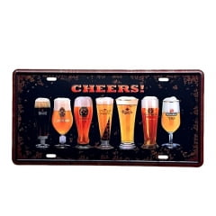 PLACA METAL CHEERS ref.16270
