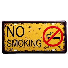 PLACA METAL NO SMOKING