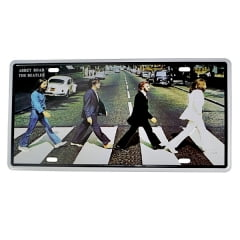PLACA METAL BEATLES ABBEY ROAD
