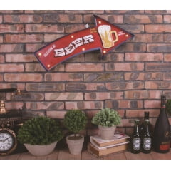 SETA METAL DECORATIVA COM LED ICE COLD BEER