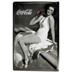 PLACA METAL COCA COLA