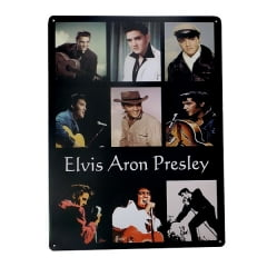 PLACA METAL ELVIS MOMENTS ref.15131