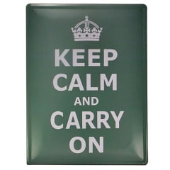 PLACA METAL KEEP CALM VERDE