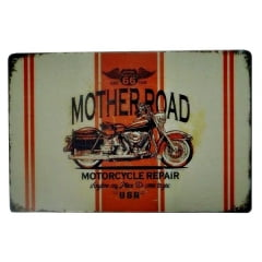 PLACA METAL MOTHER ROAD R66