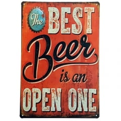 PLACA METAL THE BEST BEER
