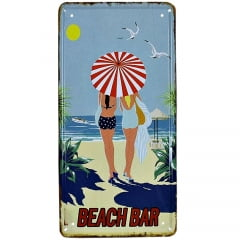 PLACA METAL BEACH BAR