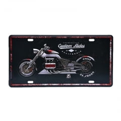 PLACA METAL CUSTOM RIDES