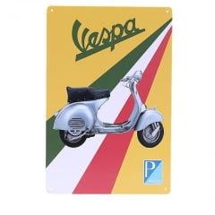 PLACA METAL VESPA