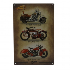 PLACA METAL 3 INDIAN