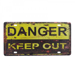 PLACA METAL DANGER