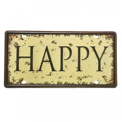 PLACA METAL HAPPY