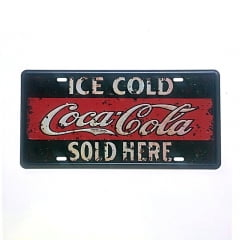 PLACA METAL ICE COLD COCA COLA