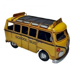 KOMBI SCHOOL BUS MINIATURA METAL