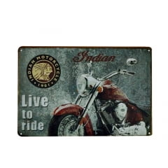 PLACA METAL INDIAN