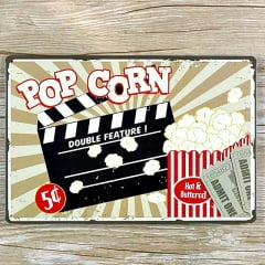 PLACA METAL POP CORN
