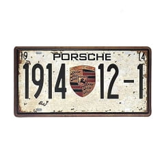 PLACA METAL PORCHE