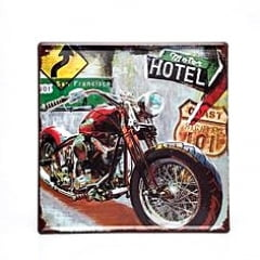 PLACA METAL MOTO HIGHWAY101