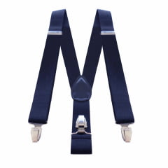 Suspensório Classico Largo Azul Marinho