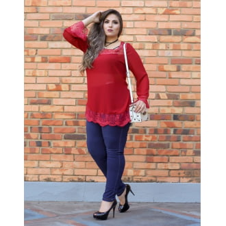 Blusa Renda Plus Size
