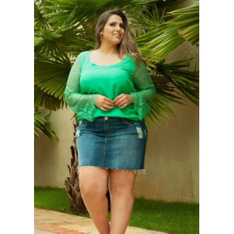 Bata Plus Size com Renda