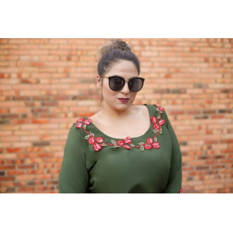 Blusa Plus Size Viscose