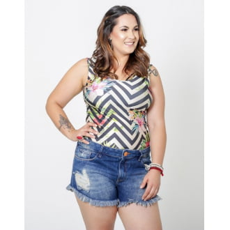 Regata Plus Size Estampada