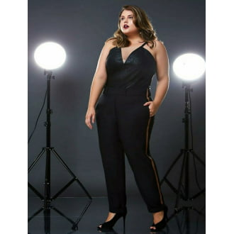 Body Plus Size com Tule