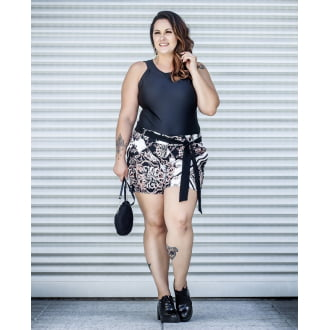 Body Preto Plus Size