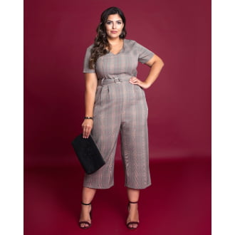 Macacourt Plus Size Xadrez