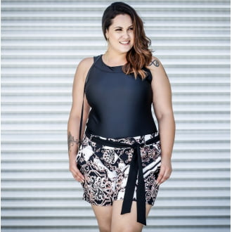 Short Plus Size Estampado