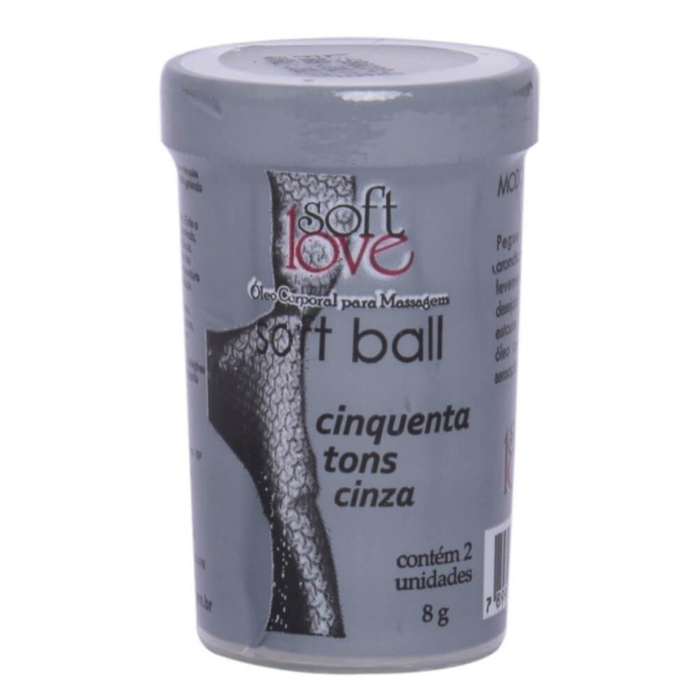 SOFT BALL BOLINHA 50 TONS DE CINZA 8G 02 UNIDADES
