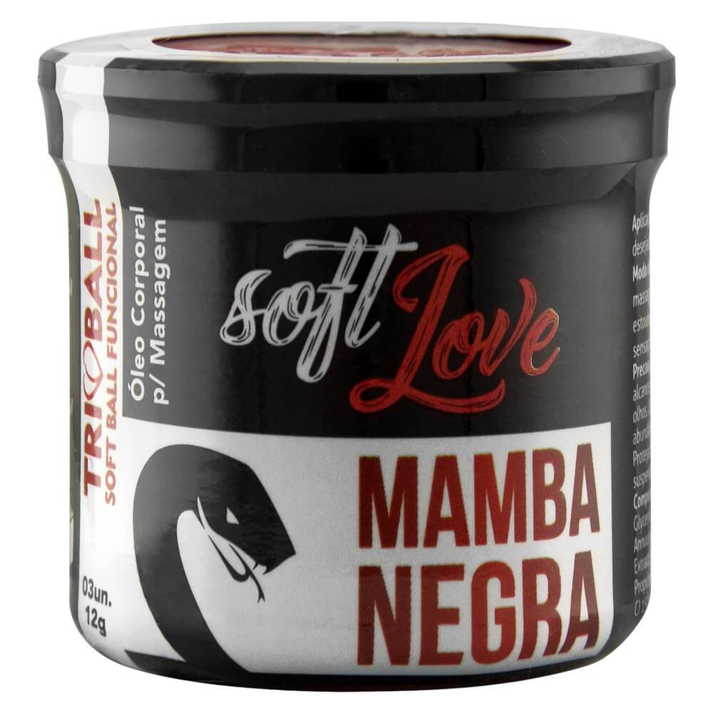 SOFT BALL TRIBALL MAMBA NEGRA 3 UNIDADES