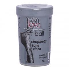 SOFT BALL BOLINHA 50 TONS DE CINZA 8G 02 UNIDADES SOFT LOVE