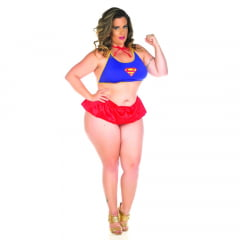 KIT MINI FANTASIA PLUS SIZE SUPER GIRL PIMENTA SEXY