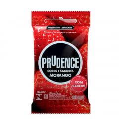 PRESERVATIVO MORANGO COM 3 UNIDADES PRUDENCE