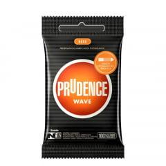 PRESERVATIVO WAVE COM 3 UNIDADES PRUDENCE