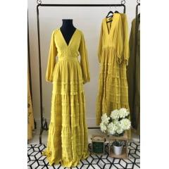 553883e7c Vestido de Festa Longo Chiffon Maquinetado - Clube Conceito Store
